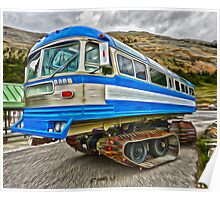 Athabasca Glacier Snow Mobile Poster