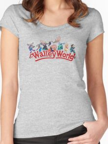 Walley World Full Character Logo Women's Fitted Scoop T-Shirt