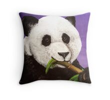 Panda Painting Throw Pillow
