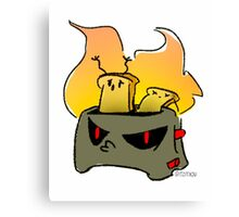 Evil toaster Canvas Print