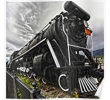 Locomotive in Jasper National Park Poster