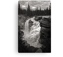 Waterfall in Jasper National Park Canvas Print