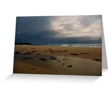 A quiet beach at dusk Greeting Card