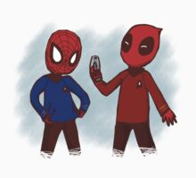 Spideypool in Starfleet uniform by viizvictory