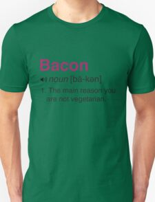 Funny Bacon Definition Unisex T-Shirt