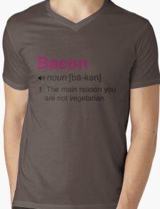 Funny Bacon Definition Mens V-Neck T-Shirt