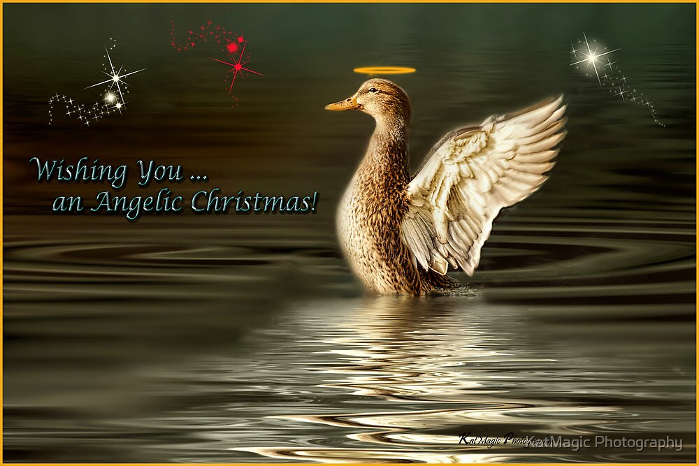 Wishing You an Angelic Christmas by KatMagic Photography