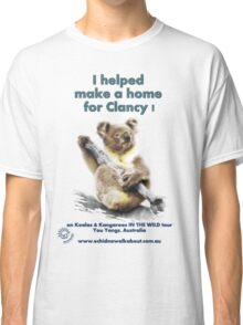 Make a Home for Clancy - light background Classic T-Shirt