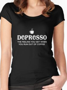 Depresso Women's Fitted Scoop T-Shirt