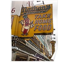 Coney Island, Nathans Hotdogs Poster