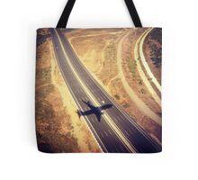 Plane Crossing Tote Bag