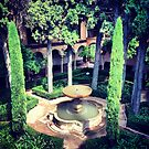 Gardens in Alhambra by omhafez