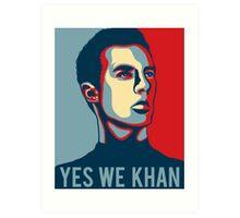 Yes we Khan Art Print