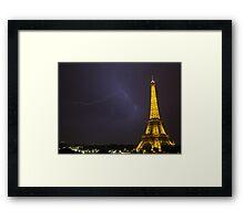 Effel tower lightening Framed Print