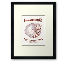 The Raccoon Disguise Kit for Foxes Framed Print