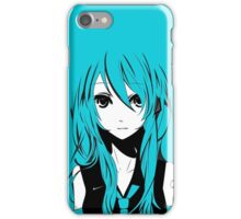 Miku in a stream of Colors iPhone Case/Skin