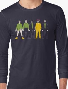 The Evolution of Walter White Long Sleeve T-Shirt