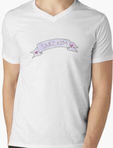 Sarcasm. Mens V-Neck T-Shirt
