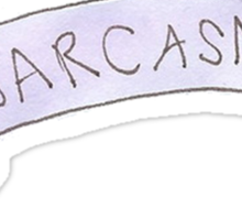 Sarcasm. Sticker
