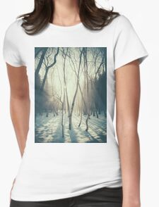 Peaceful Forrest Womens Fitted T-Shirt