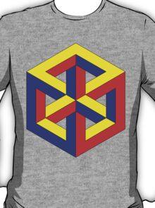 Penrose Cube - Primary T-Shirt