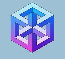 Penrose Cube - Blue Purple Gradation Unisex T-Shirt