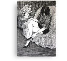 Life Drawing IMG-0849 Canvas Print