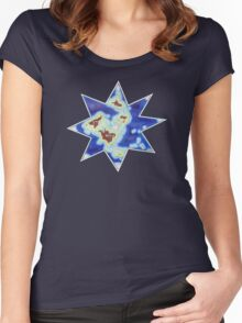 Star world map Women's Fitted Scoop T-Shirt