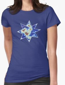 Star world map Womens Fitted T-Shirt