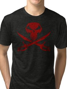 Under A Black Flag  - Red Sky Tri-blend T-Shirt