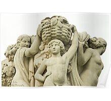 Sculptures In The Jardins Du Trocadero - 1 ©  Poster
