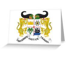 Benin Coat of Arms Greeting Card