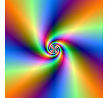 Psychedelic Four Winds Spiral Photographic Print