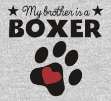 My Brother Is A Boxer Baby Tee