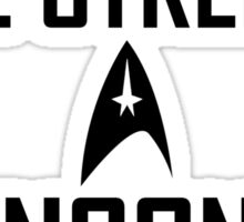 Vulcan in the streets Klingon in the sheets Sticker