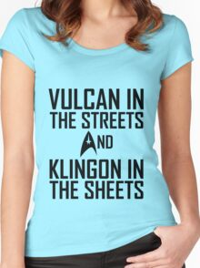 Vulcan in the streets And Klingon in the sheets Women's Fitted Scoop T-Shirt