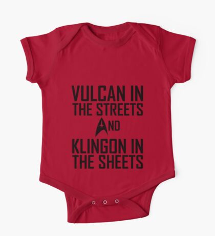 Vulcan in the streets And Klingon in the sheets One Piece - Short Sleeve
