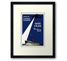 United States War Films Now Being Shown Framed Print
