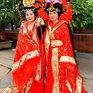 Chinese Girls In Colourful Costumes. Xi'an, China by Ralph de Zilva