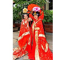 Chinese Girls In Colourful Costumes. Xi'an, China Photographic Print