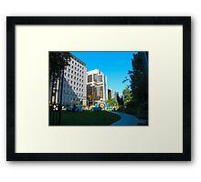 Corporate playground Framed Print