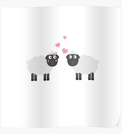 Sheeps in love Poster