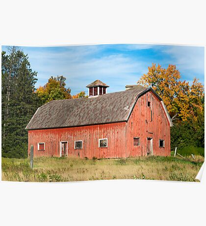 Old Red Barn in Wisconsin Poster