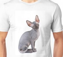 Charming kitty cat sphynx without hair Unisex T-Shirt