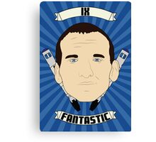 Doctor Who Portraits - Ninth Doctor - Fantastic Canvas Print