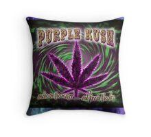 Purple Kush Throw Pillow