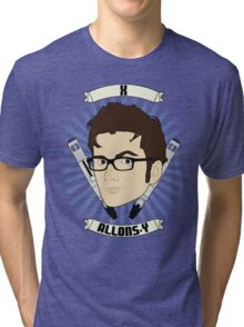 Doctor Who Portraits - Tenth Doctor - Allons-y Tri-blend T-Shirt