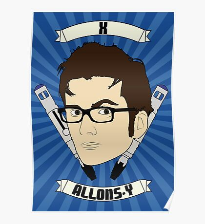 Doctor Who Portraits - Tenth Doctor - Allons-y Poster