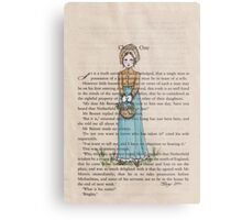 Pride and Prejudice chapter one. Elizabeth Bennet Metal Print
