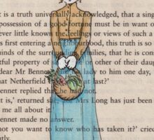 Pride and Prejudice chapter one. Elizabeth Bennet Sticker